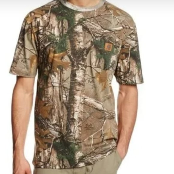 Game winner brown camouflage shirt mens  size smal